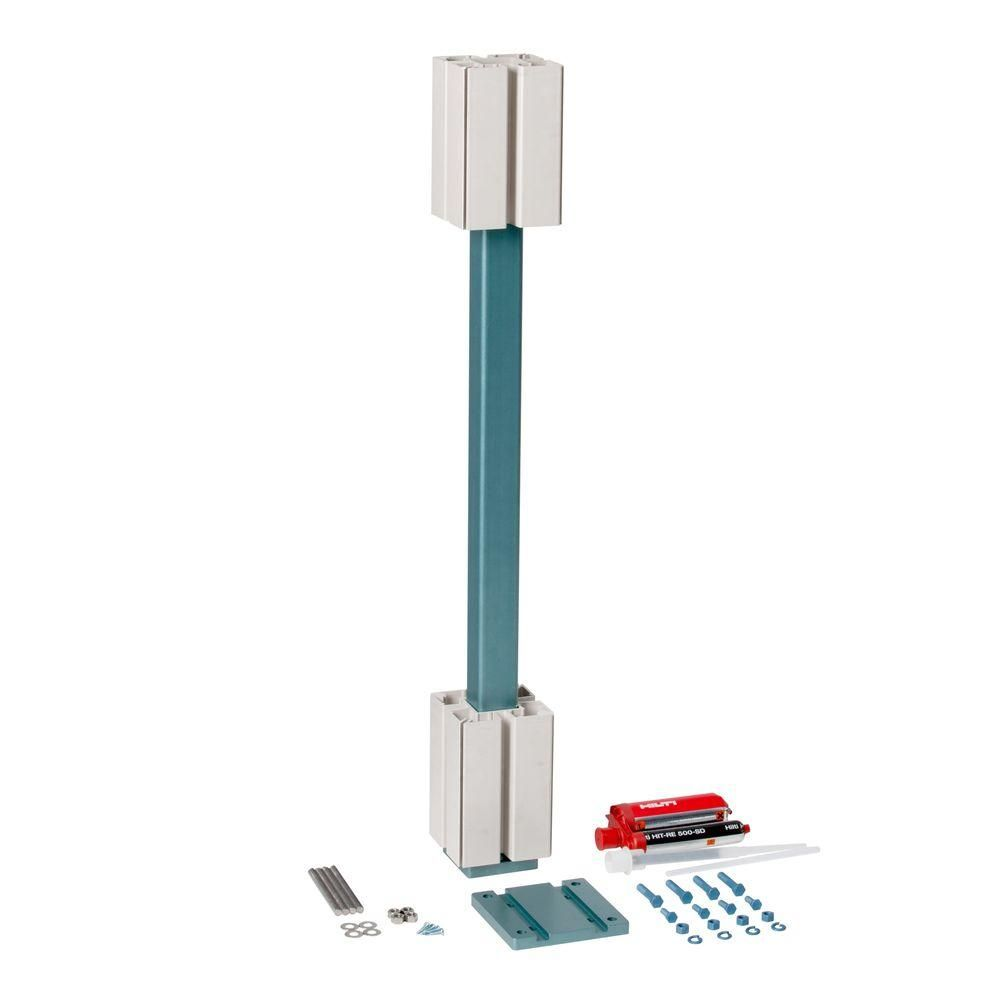 5 in. x 5 in. x 44 in. Post Mount Kit for Concrete/Masonry