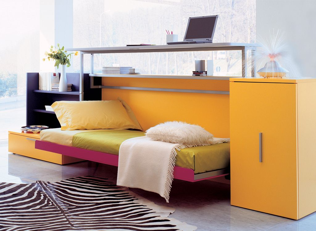 Exceptional Cabrio IN Is A Space Saving Wall Bed Designed In Italy By Clei, Shelf Above