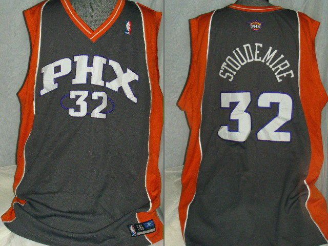 430b9efde ... NBA Reebok Amare Stoudemire 32 Phoenix Suns sewn jersey size 56 orange  gray ...