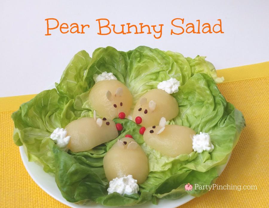 Pear Bunny Salad Easter Brunch Ideas Easy Treat For Kids Cute