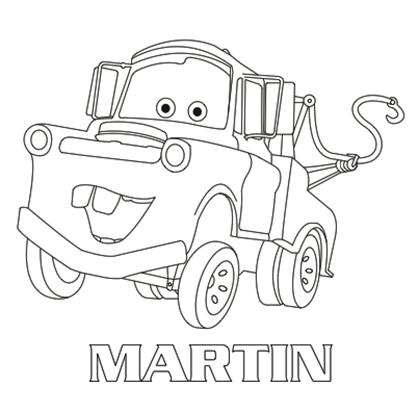 coloriage-cars-martin-12421.png (420×420)   Disney coloring pages, Disney art, Car cartoon