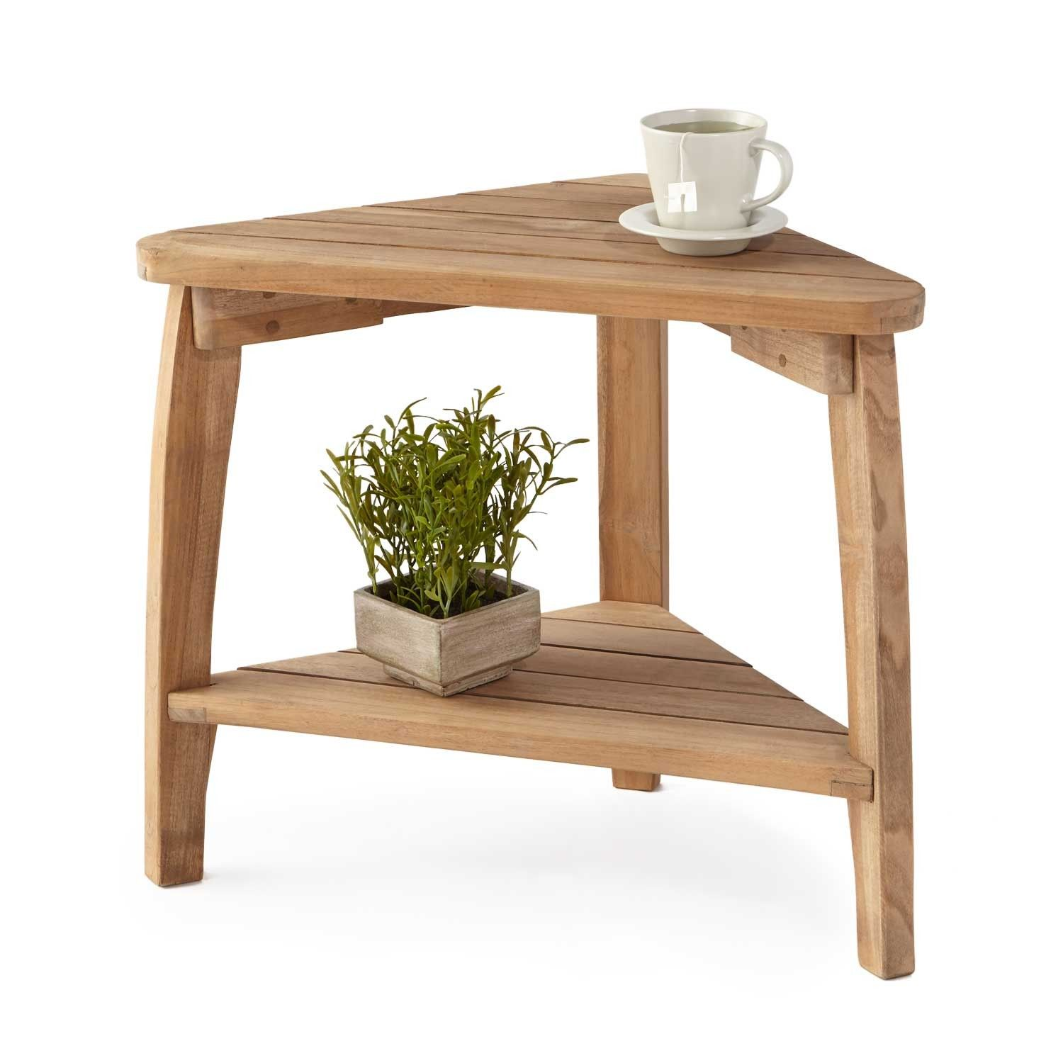 Terrel teak outdoor corner table corner table teak and Corner bench table
