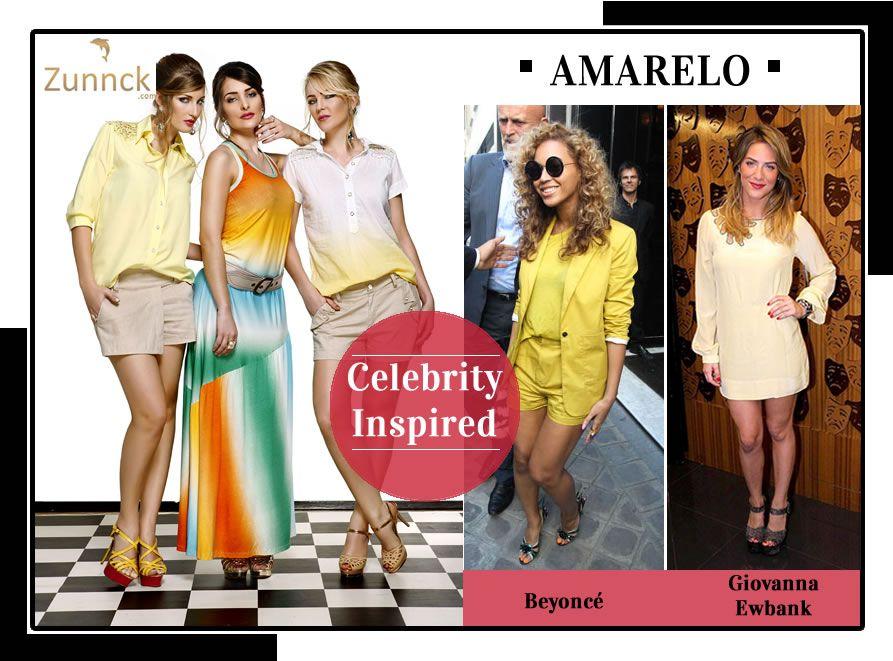 Inspiração das famosas: amarelo