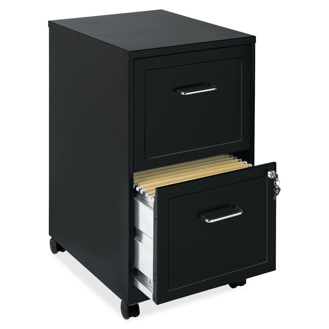 Lorell 2 Drawer Locking Sturdy Mobile File Cabinet With Wheels Filing Cabinet Mobile File Cabinet Drawer Filing Cabinet