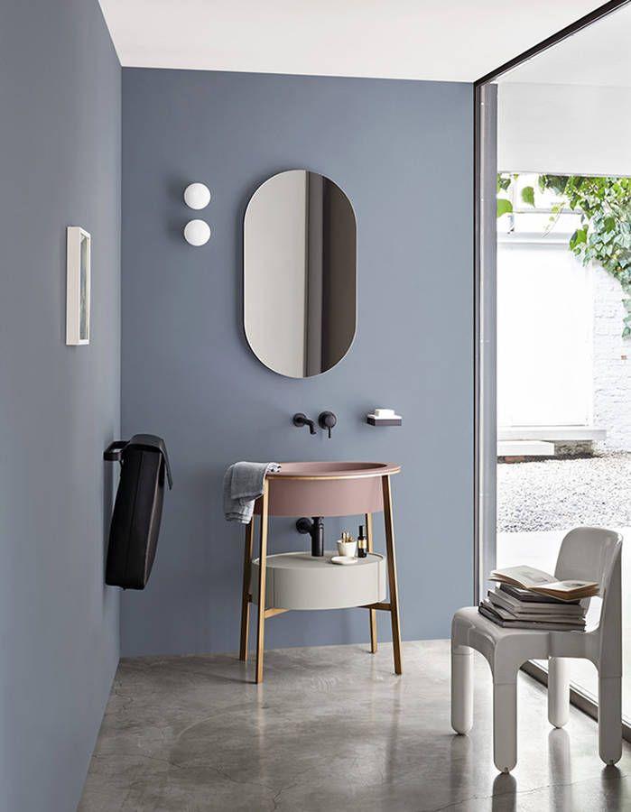 De la couleur dans la salle de bains via des touches pastel sdb