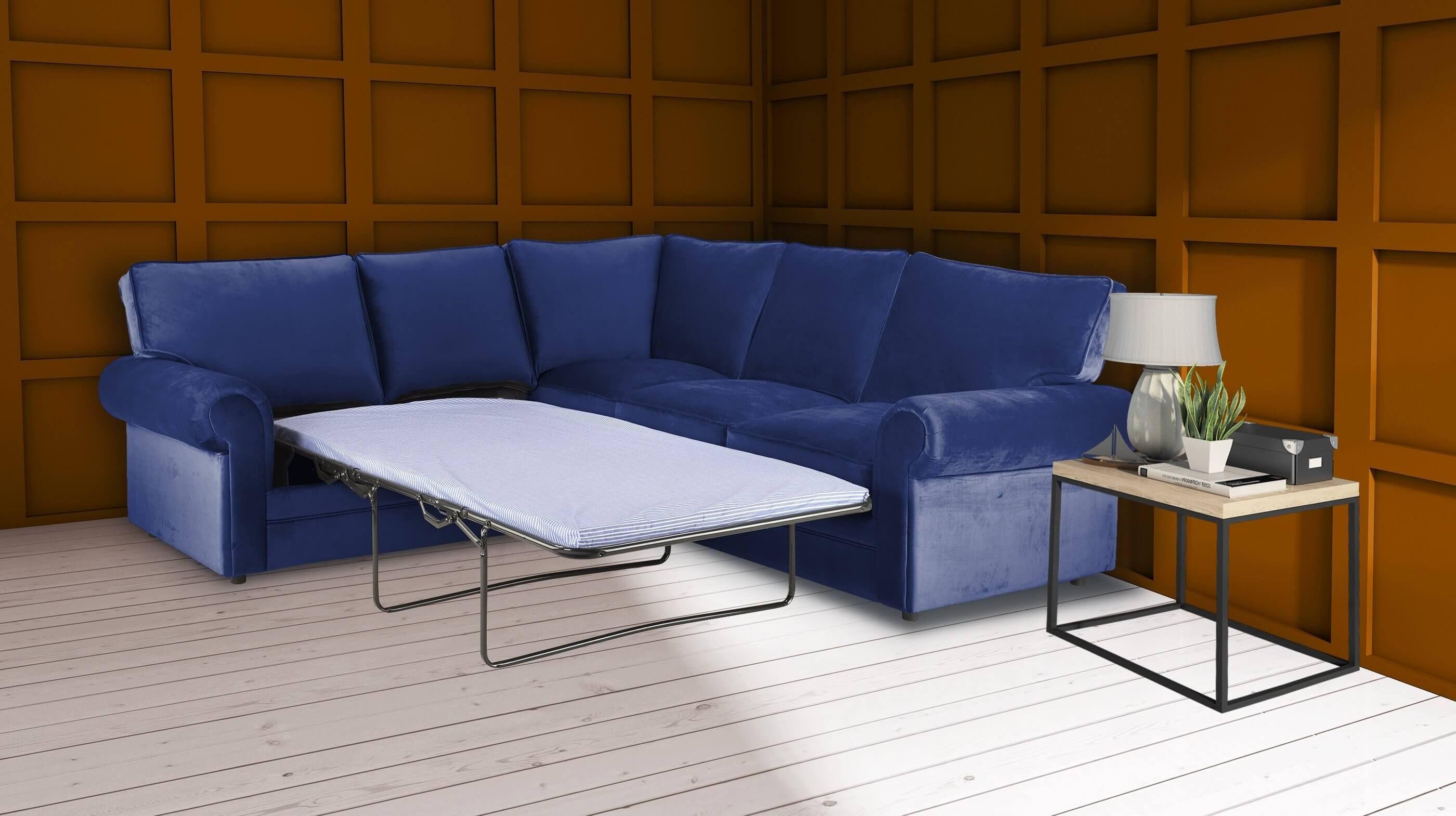 49 Reference Of Blue Chesterfield Sofa Bed In 2020 Beige Sofa Living Room Corner Sofa Living Room Black Corner Sofa