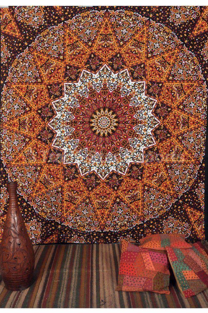 Tse Large Indian Star Mandala Tapestry Wall Hanging Bohemian Bedding Hippie Wall Decor Beach Mandala Tapestries Wall Hangings Mandala Tapestry Star Tapestry