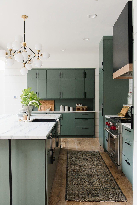 Top Green Kitchen Modern