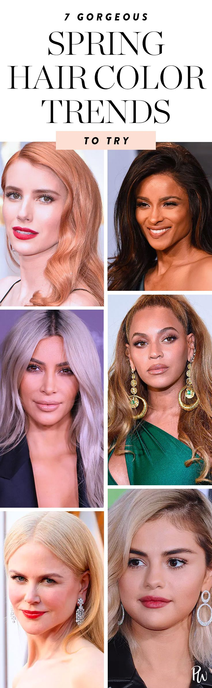 7 Spring Hair Colors You're About to See Everywhere | Spring hair color, Spring hairstyles ...