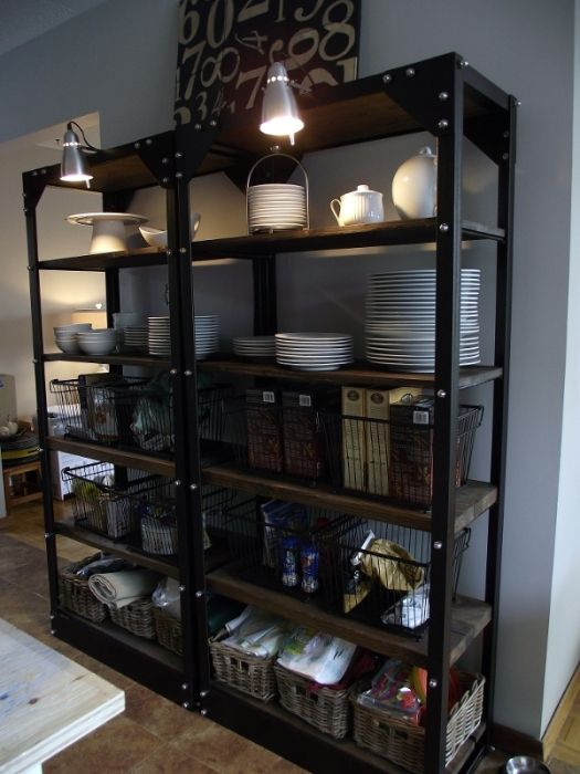 Restaurant Kitchen Metal Shelves styling open shelving in the kitchen - | metal shelves, open