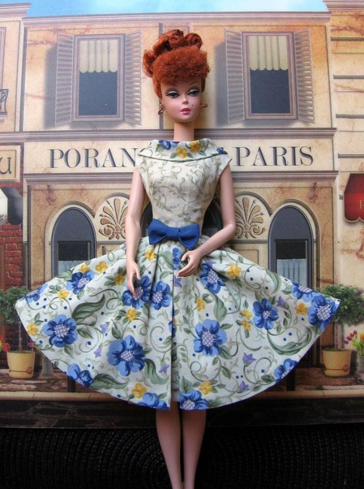 floral dress for Barbie