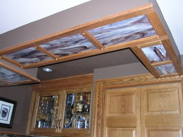 This Soffit In A Basement Ceiling Covers Up Some Plumbing Pipes From Above Ra Basement Ceiling Covering Basement Ceiling Painted Basement Ceiling Ideas Cheap