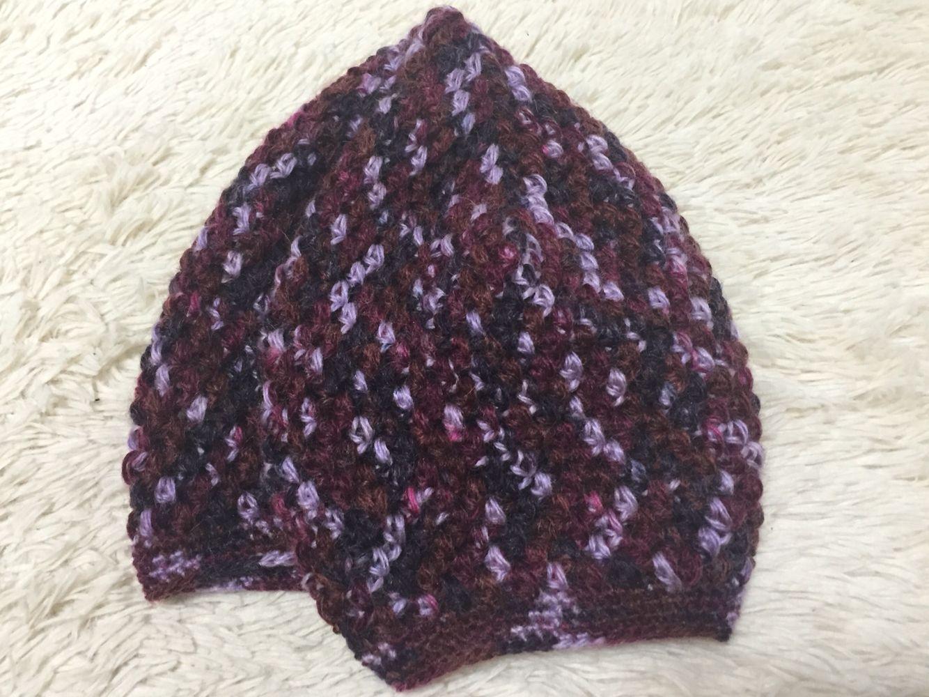 混ざり糸のベレー帽