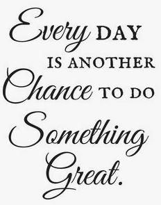 12x18 Everyday is another Chance to do something great