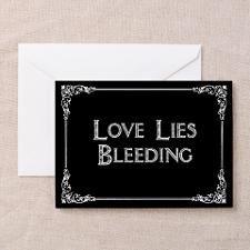 Love lies bleeding greeting card anti valentines day unfortuntate love lies bleeding greeting card anti valentines day m4hsunfo