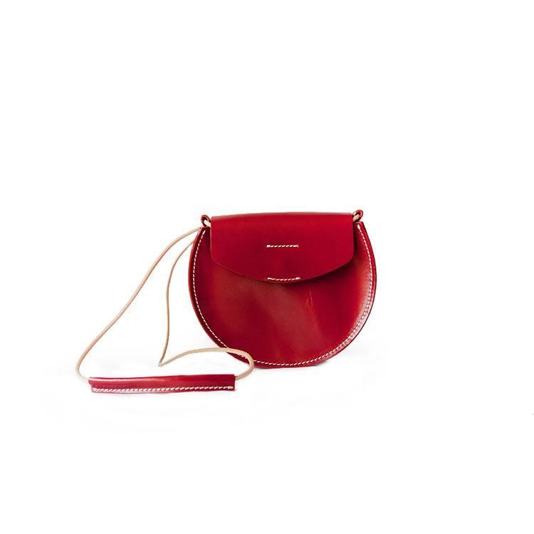 1c9a5d1d1df1 Handmade Leather Saddle Crossbody Bag Shoulder Bag Small Half-Round Bag  Women