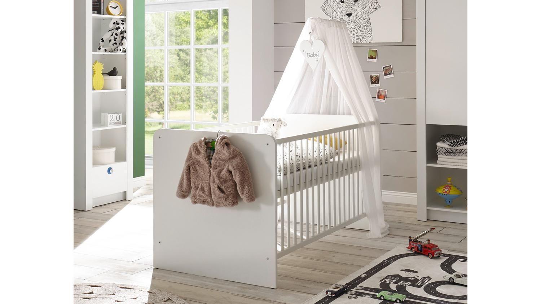 babybett paula bett kinderbett gitterbett in weiß 70x140