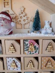 Un Calendrier de l'avent fait maison avec des petits cadeaux #calendrierdelaventfaitmaisonenfant