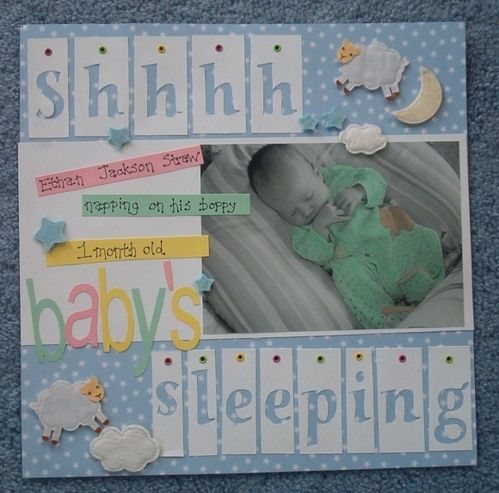 Scrapbook Layouts to Try: Baby's Sleeping Layout