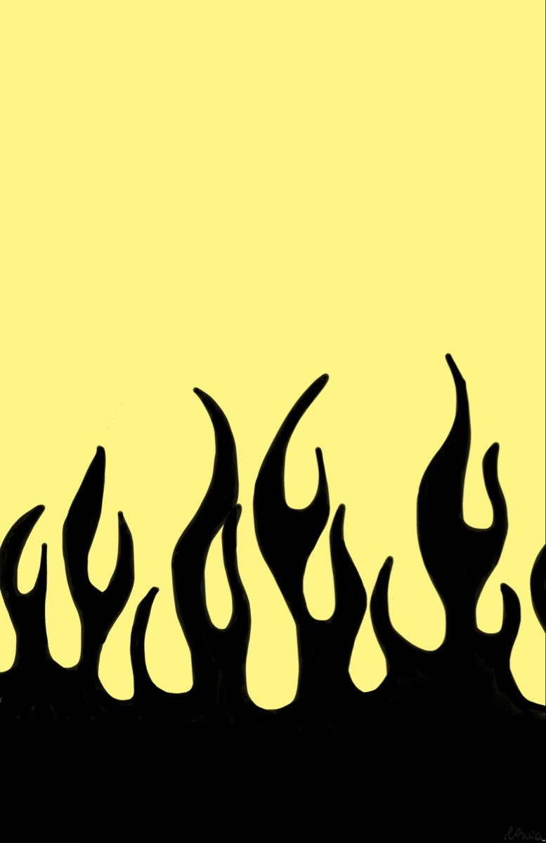 Yellow Pastel Fire Wallpaper Yellow Wallpaper Aesthetic Indie Yellow Aesthetic