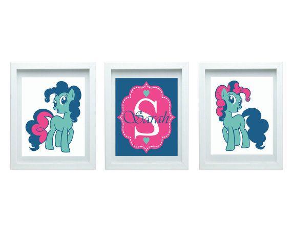 My Little Pony Cute Pony Decor Girls Nursery Art Girl Bedroom