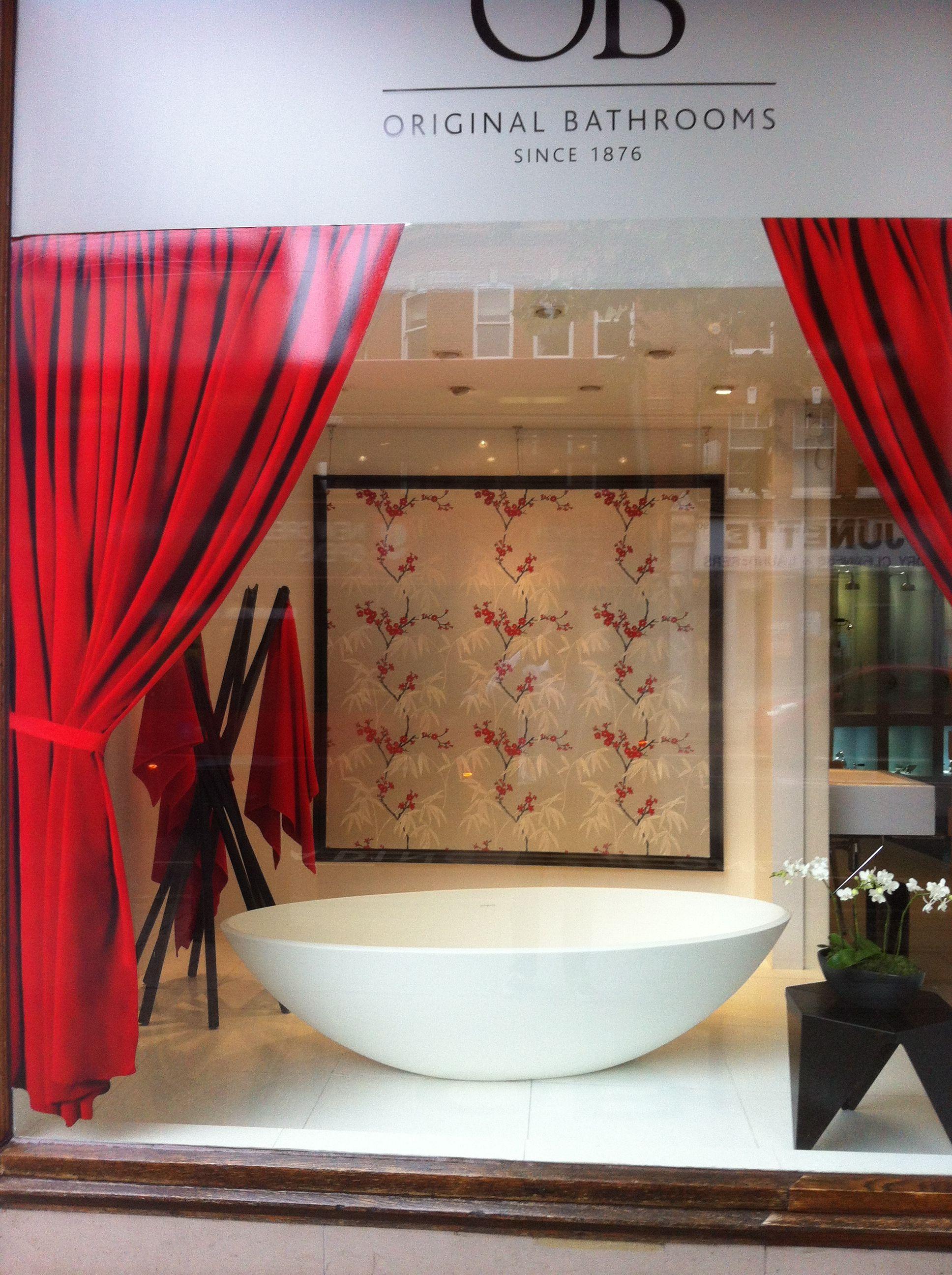 Bathroom Window Uk zen bathroom window display. coat stand from www.hipprops.co.uk