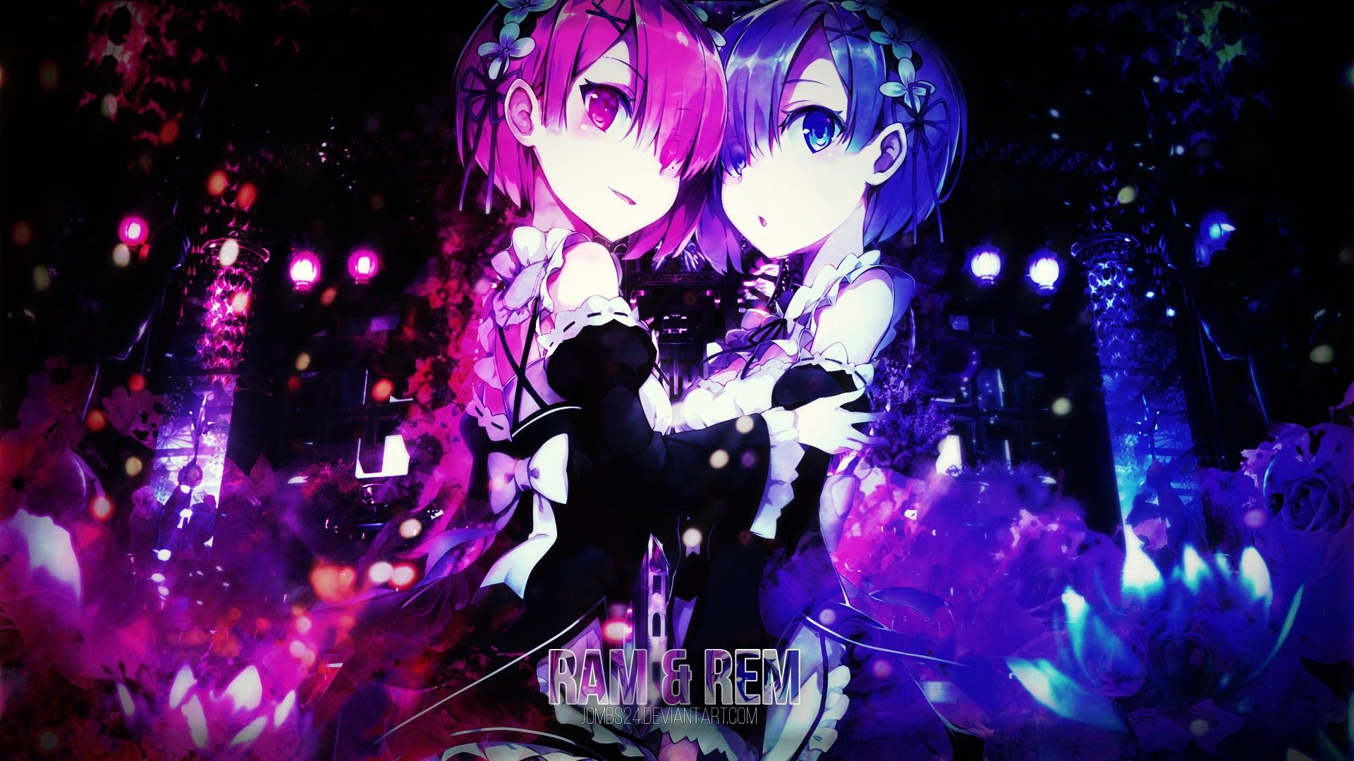 Re Zero Wallpaper Rem And Ram Re Zero Wallpaper Anime Anime