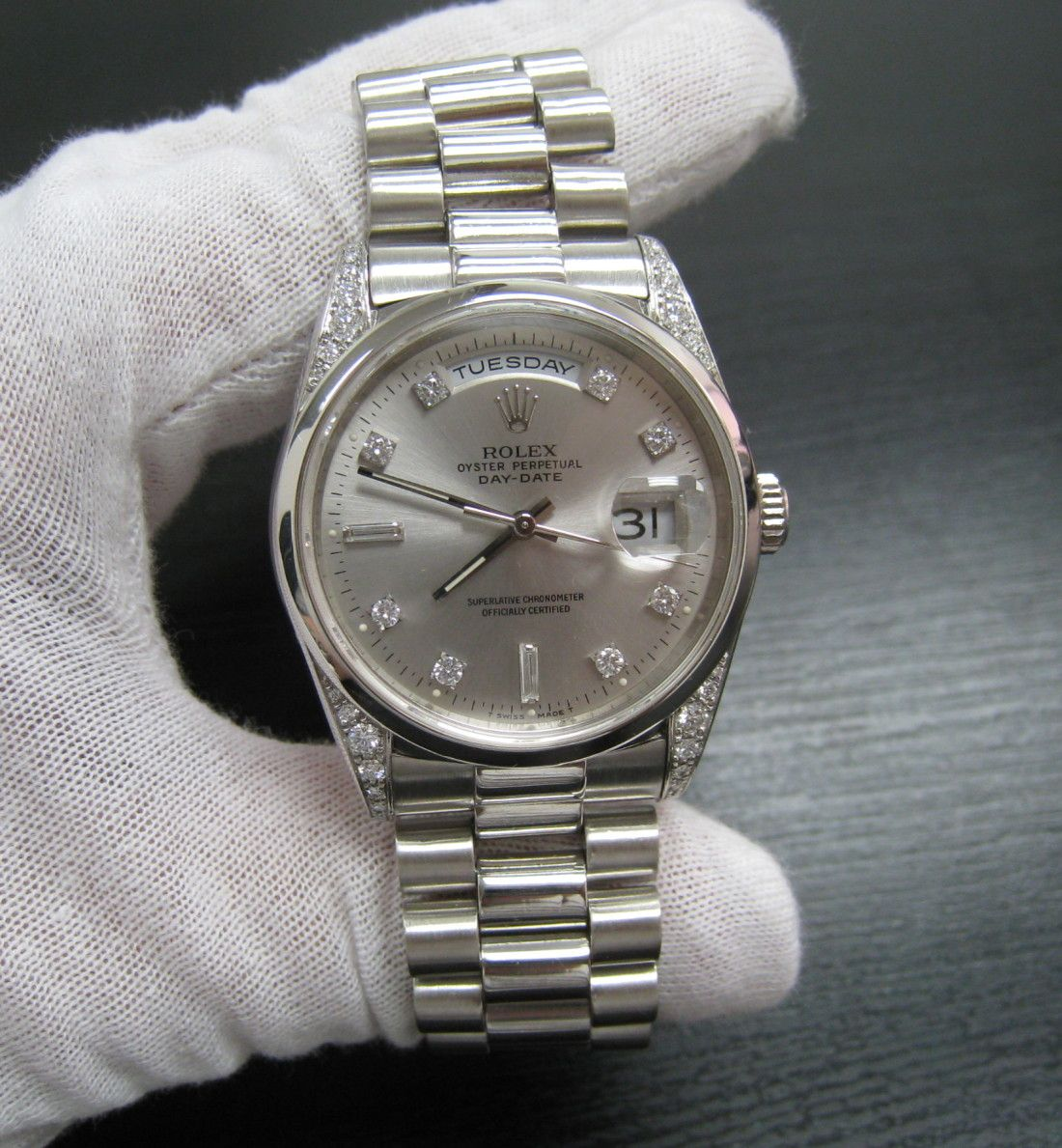 mens rolex president datejust 18k gold over 22 carats diamonds platinum rolex president see more mens rolex watch