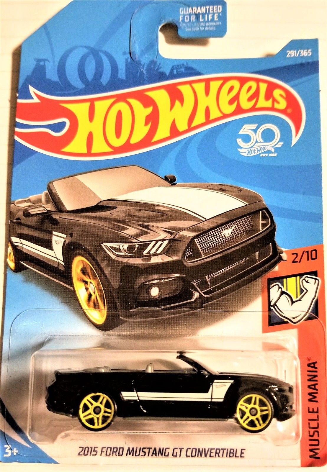 Hot wheels 50th anniversary 2015 ford mustang gt convertible muscle mania