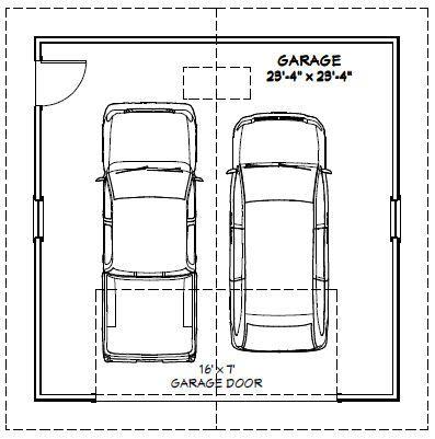 24x24 2 Car Garage 24x24g1e 576 Sq Ft Excellent Floor