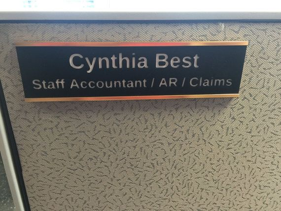Custom Printed Name Plate For Your Desk Office Door Etc