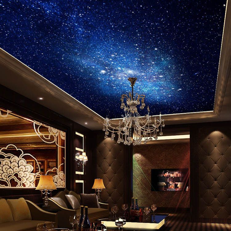 50 Space Themed Bedroom Ideas For Kids And Adults Space Themed Bedroom Bedroom Themes Ceiling Murals