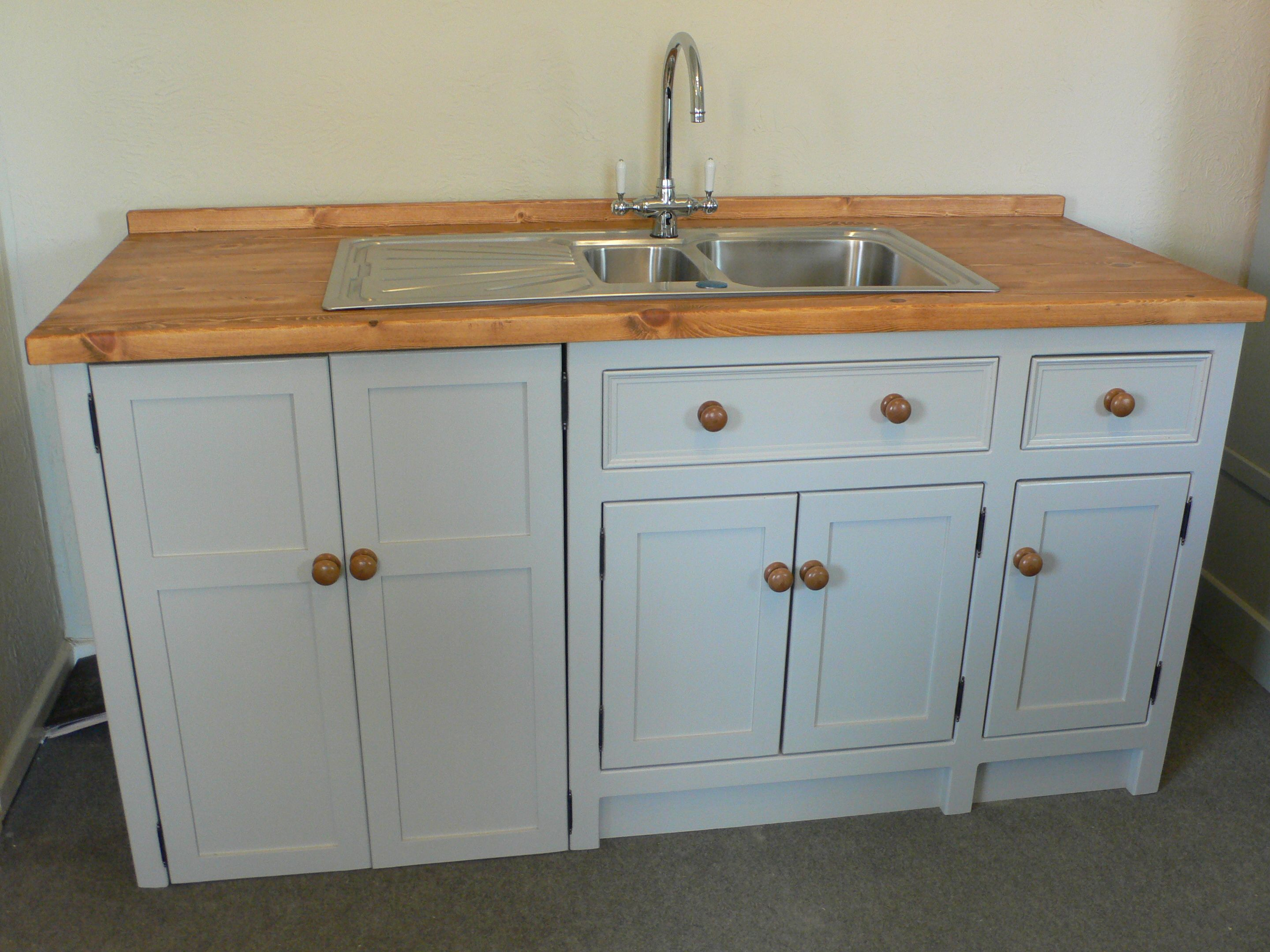 A Practical And Great Looking Freestanding Sink Unit For A Utility Room Painted Free Standing Kitchen Units Freestanding Kitchen Free Standing Kitchen Cabinets