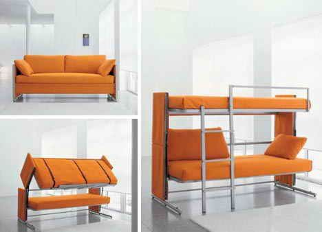 Using Multifunction Furniture Design For Small House Bunk Bed Sofa Desain Furnitur Ranjang Tingkat Tempat Tidur Sofa