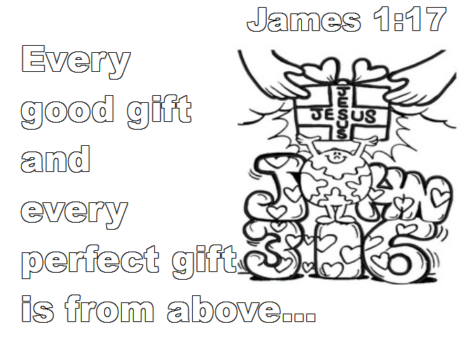 1 Verse Pages And James Coloring Bible 17