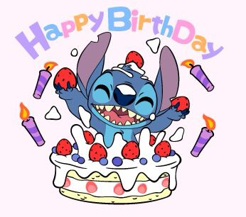 Happy Bday Stitch Cute Picture Clip Art Cute Stitch Happy