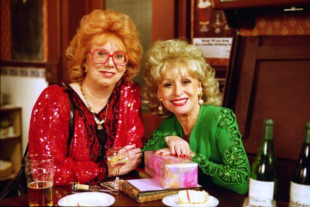 Aunt Sal and Peggy played by Anna Karen and Barbara Windsor.