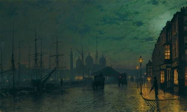 John Atkinson Grimshaw Princes Dock Hull 1887 Ferens Art Gallery Hull Guildhall Art Gallery Art Uk Galleries In London