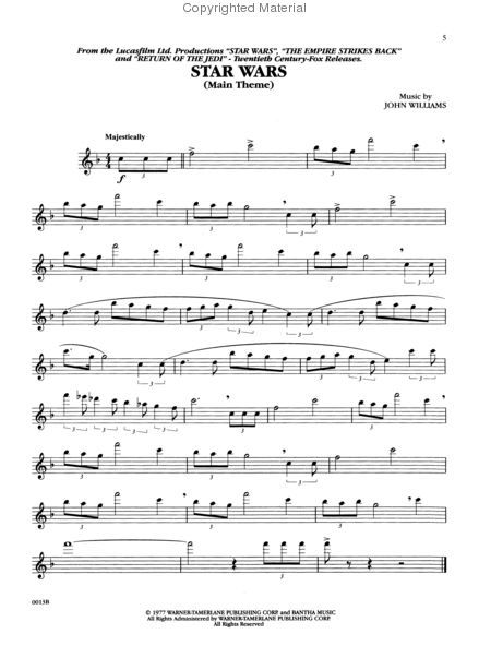Music From Star Wars Trilogy Special Edition Flute Flute Sheet
