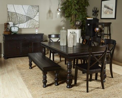 gerlane dark brown 8 piece dining room set | dining room dress-up