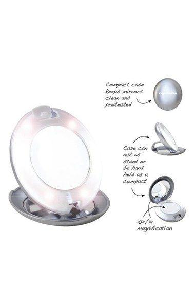 TWEEZERMAN LED Lighted 10x & 1x Compact Mirror | Nordstrom