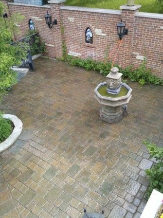 Brick PAver PAtio Sealed With Wet Look Sealer. | Www.paverprotector.com #
