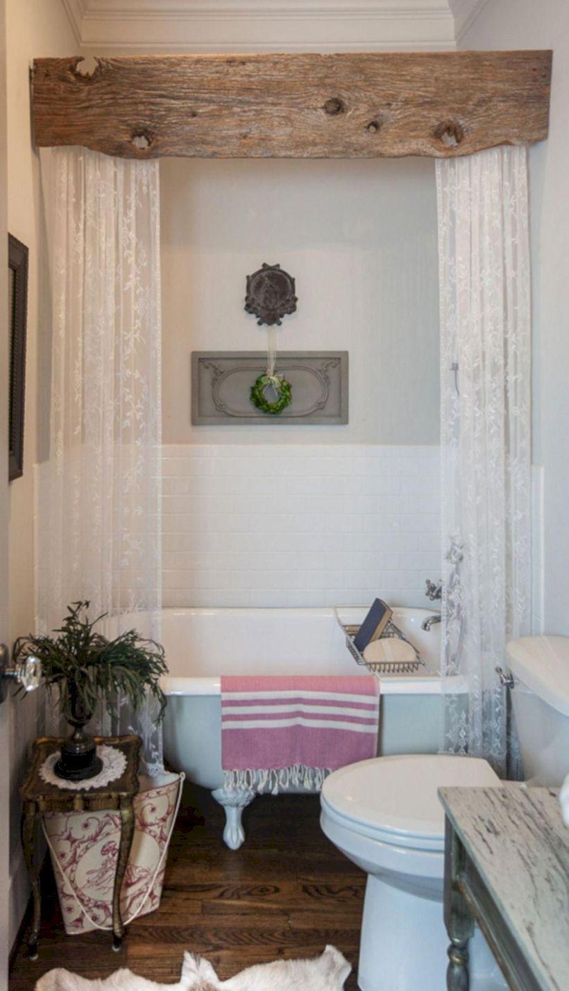 47 Comfy Farmhouse Bathroom Decor Ideas With Rustic Style