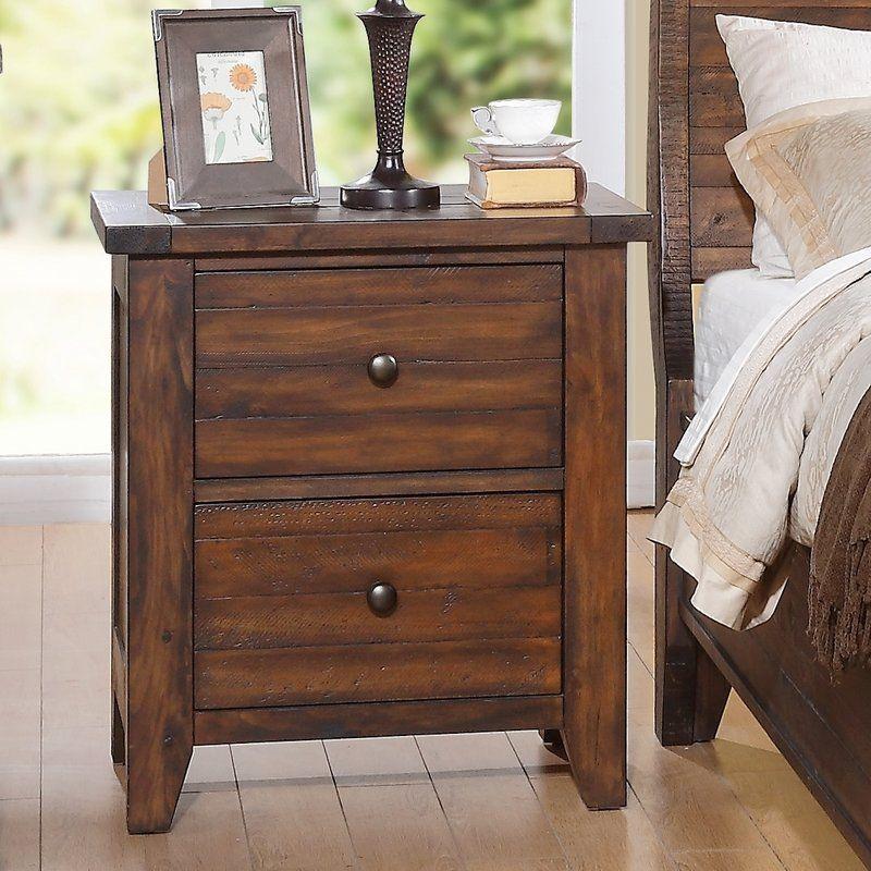 Cally 2 Drawer Nightstand Nightstand, Drawer nightstand