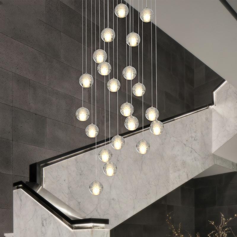 10 36 Lights Modern Pendant Light Dc12v G4 Led Bulbs Included Crystal Suspension Lighting Stairs Dining Room In 2020 Modern Pendant Light Loft Lighting Modern Pendant