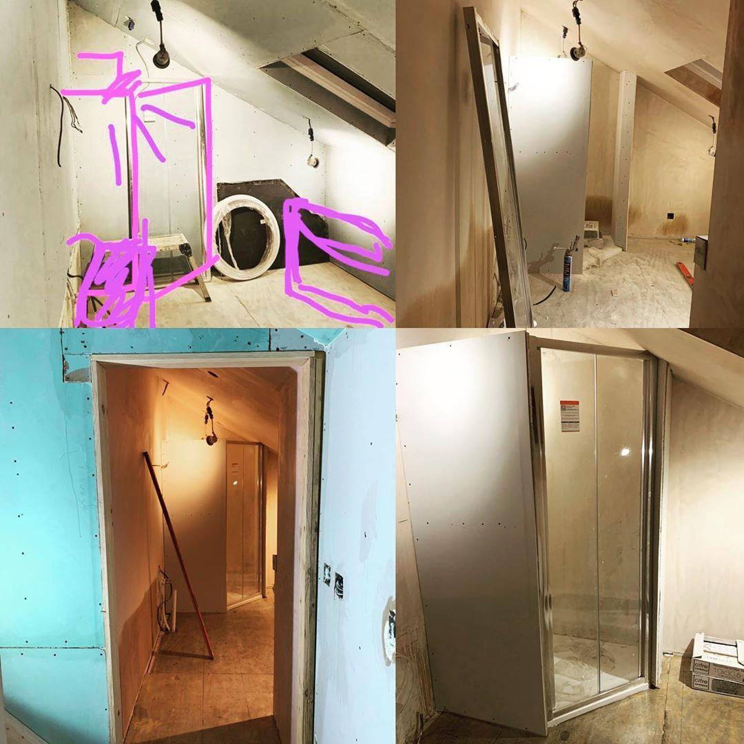 Photo of Das ist also die Duschkabine im großen Badezimmer, die ein bisschen …