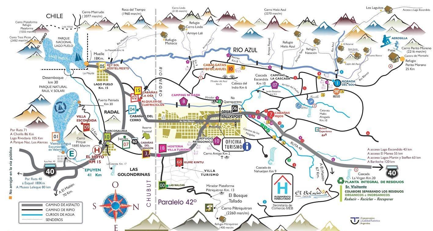 Circuito W Mapa : Mapa turistico de bariloche.jpg 1418×756 turismo pinterest