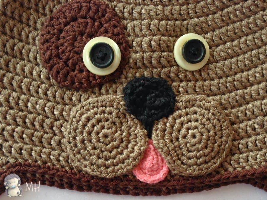 Gorro Perrito a Crochet, Patrón Gratis | bebe | Pinterest | Crochet ...