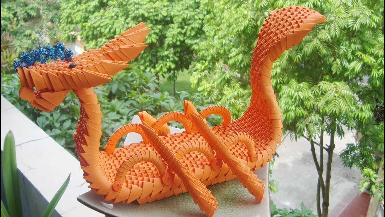 Photo of 3D Origami Dragon Boat Tutorial | como hacer origami 3d barco de Dragón