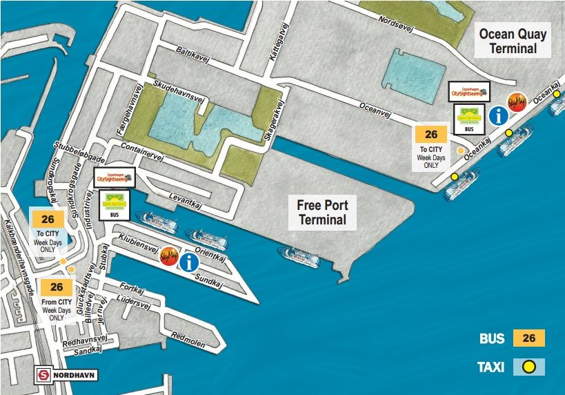 how to get from copenhagen airport to cruise port